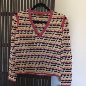 Missoni wave pattern v neck sweater